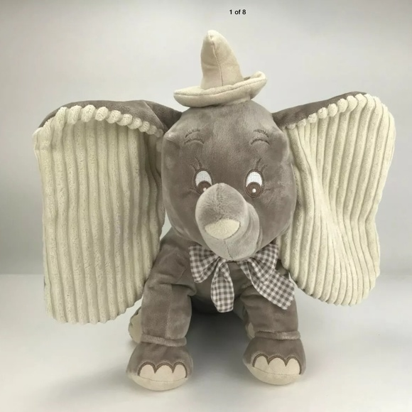 "Disney Store Dumbo Elephant Gray Plush 15"" Tall"